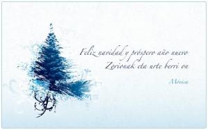 Feliz navidad y próspero año nuevo | Zorionak eta urte berri on
